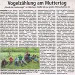 """Bericht """"Stunde der Gartenvögel 2017"""" - mit frdl. Erlaubnis der LDZ"""