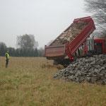 Steine für den Winterunterschlupf / Lehm werden geliefert - Foto: Britta Raabe