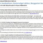 PM - RGS WB - Termine NABU KV Hildesheim