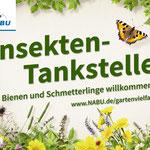 Gartenschild Insektentankstelle, Foto: NABU Bundesgeschäftsstelle