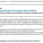 PM RGS WB - Kreisverband Hildesheim: Amphibien-Poster-Ausstellung