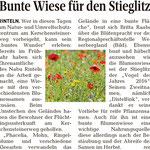 """Pressemitteilung """"bunte Wiese für den Stieglitz"""" - SZ"""