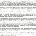 Pressetext - NABU Regionalgeschäftsstelle Weserbergland - SZ, Mai 2015