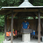 NABU Sommerfest 2016 - die Grillhütte  - Foto Britta Raabe