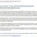 PM - Ausstellung Hautflügler St. Johanniskirchengemeinde
