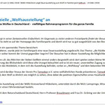 PM RGS WB: NABU KV Hildesheim - Wolfsausstellung im Familienpark Sottrum