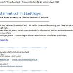 PM - RGS WB - Stammtisch NABU Stadthagen