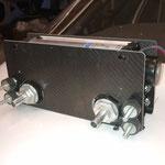 Wärmetauscher für Kabinenheizung, in Carbon mit Querstromlüfter