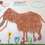 Mammut von Pfännerhall- Filzstift auf Papier 2019