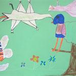 Flugsaurier, Gastornis und Schmetterlinge - Collage 2019