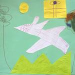 Flugsaurier, Geschenk und Riesenfarn - Collage 2019
