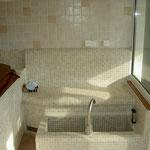 elektrisch beheizte Kneipp-Becken mit beheizter Sitzbank