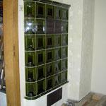 effektive Kachel-Strahlungswand zum Treppenhaus