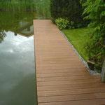 Gartenanlage mit Schwimmteich