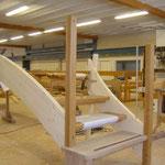 Antrittspfosten bei einer Holztreppe