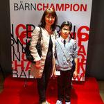 Raphael mit seiner Trainerin Frau Kiefer