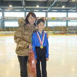 Raphael mit seiner Trainerin Frau Kiefer  an der Schweizermeisterschaft