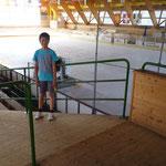 Raphael in der Eishalle