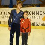 Raphael mit Michael Martinez an der Eisgala