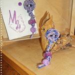 Pezzotti Earrings - Violet flowers