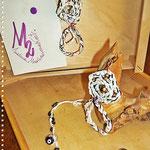 Pezzotti Earrings - White, black and copper