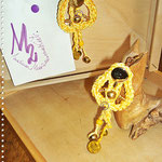 Pezzotti Earrings - Yellow, brass and pearls