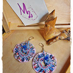 Tribute to Alphonse Mucha 1 earrings