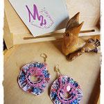Tribute to Alphonse Mucha 3 earrings