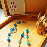Tourquoiseyes Bracelet and Earrings