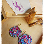 Tribute to Alphonse Mucha 2 earrings