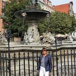 der Neptunbrunnen in der Langen Gasse