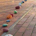 bunte Steine auf meinem Lebensweg...bunte, ja ;-)