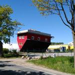 das Haus über Kopf steht in Putbus...und kann besichtigt werden, kann