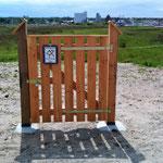 hier noch eine Tür mit Schloß und Warnung vor einem bissigen Hund. Wie verhält sich das Versicherungstechnisch, die Tür ist verschlossen ;-))))
