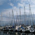 auf den Hafen in Heiligenhafen