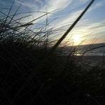 auf capri die Sonne im Meer versinkt...