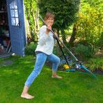Gartenarbeit...nur fürs Foto
