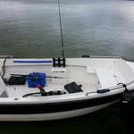 Mietboot 15 PS von der Angelschule Nord