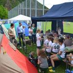 Das gemeinsame Zelten sorgte für gute Stimmung auch nach Niederlagen