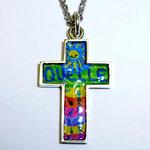 Silberkreuz mit Kinderzeichnung
