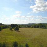 La vallée de l'Aveyron en face du gîte