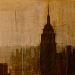 SOLD - NY1 - 112x60cm - acrylic on scratched double paper