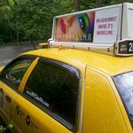 NYC Taxi mit Dachwerbung