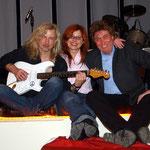 Zuhause im Erfurter DasDie. Bernd mit Wolfgang Staub und Manuela Pollatz.