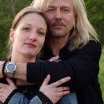 """Vater und Tochter. Julia Römer spielt in der Band """"Ellis´n Yard""""."""