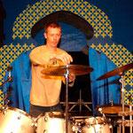 Backliner Dirk beim Laternenfest, Peißnitzinsel Halle.