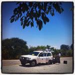 Um aus dem Caprivi-Streifen zu unserer nächsten Station zu kommen, durchqueren wir Botswana....