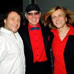 Martin Becker mit Bernd Wefelmeyer vom Filmorchester Babelsberg und Silly-Pianist Ritchie Barton.