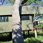 Mein Zelt in der Nkasa Lupala Lodge (www.nkasalupalalodge.com).