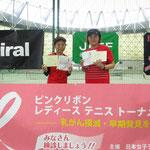 55歳以上の部 準優勝 岩永・津森ペア